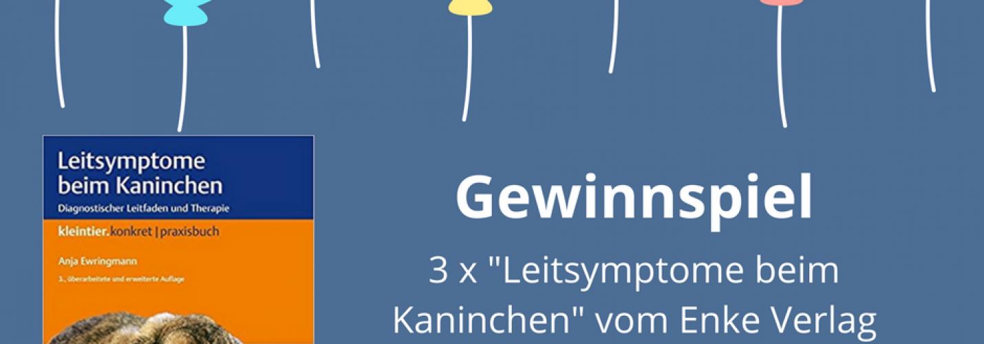 """Gewinnspiel zum Geburtstag: 3x """"Leitsymptome beim Kaninchen"""" von Enke gewinnen!"""