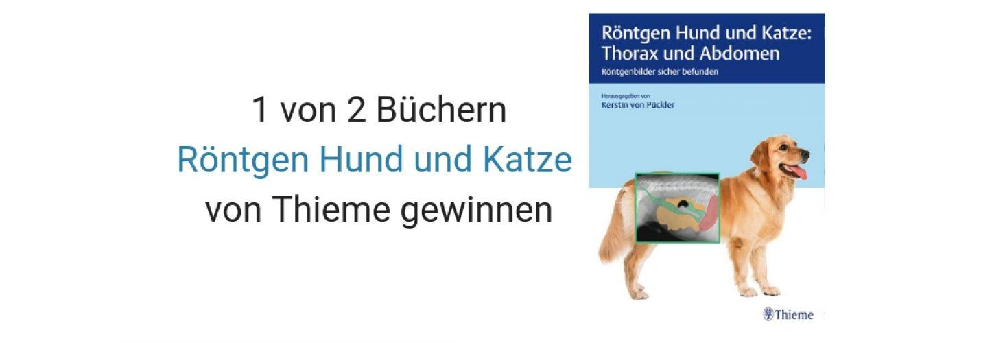 Gewinnspiel: 1 von 2 Büchern Röntgen Hund und Katze von Thieme gewinnen!
